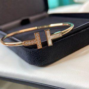 Double T-shaped open bracelet